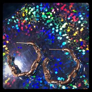 Vintage Silvertone pewter chain-link earrings