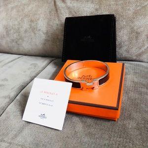 Authentic Hermès Clic Clac H Bracelet Black