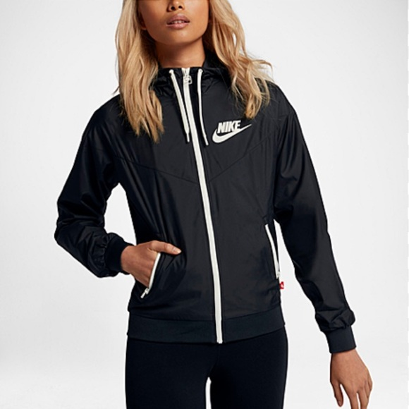 66867f5eb Nike Jackets & Coats | Black Womens Windbreaker Small Bnwt 100 ...