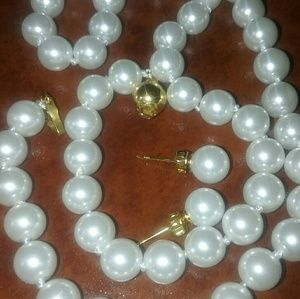 Authentic southsea pearls set in gold 14k and 925