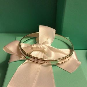 Rare Tiffany & Co. Beaded Edge Bangle Bracelet