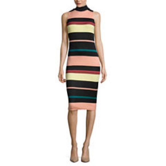 Belle Sky Dresses & Skirts - Belle + Sky™ Sleeveless Striped Scuba Dress
