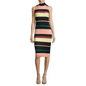 Belle + Sky™ Sleeveless Striped Scuba Dress