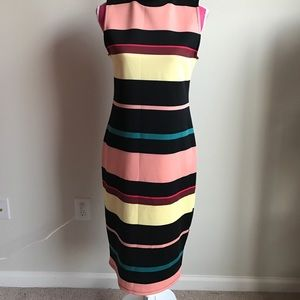 Belle Sky Dresses - Belle + Sky™ Sleeveless Striped Scuba Dress