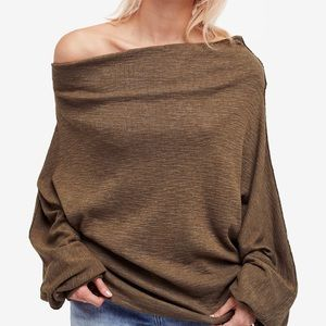 Free People Off the shoulder thermal sweater