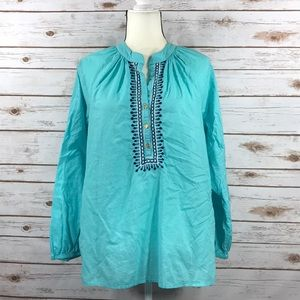 Lilly Pulitzer Peasant Style Embroidered Tunic