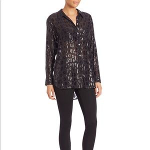 Equipment Metallic Blouse