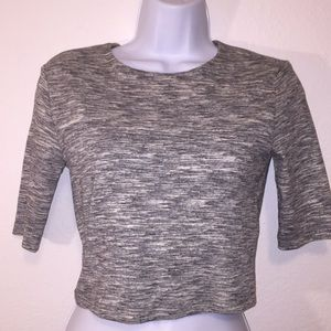 Forever 21 Gray Crop Top sz 6