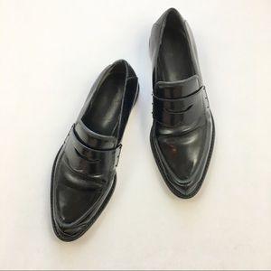 Alexander Wang Karmen Loafers Black Patent Leather