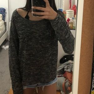 H&M Speckled Grey Long Sleeve Shirt