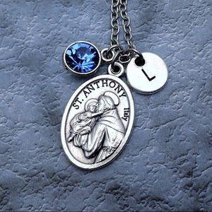 Personalized Saint Anthony necklace