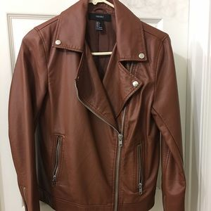 Leather jacket brand forever 21