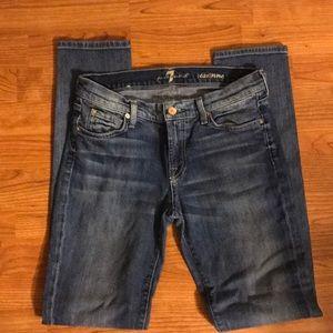 7 FAM Roxanne jeans sz. 29 33 1/2 inseam EUC