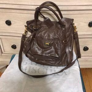 All brown leather Badgley Mischka satchel