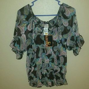*NEW W/ TAGS* Ariat from Cavender's Silk Blouse