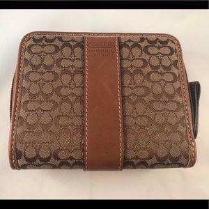 Coach Brown C Zip Wallet