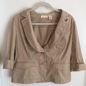 DKNY khaki cropped jacket