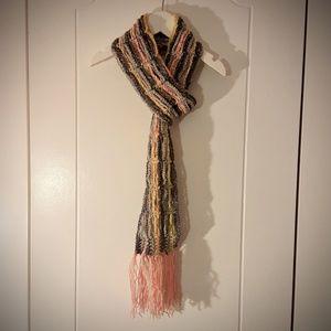 Urban Chic Crochet Scarf with Tassels
