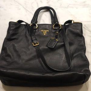Authentic Prada leather tote