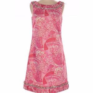 NWOT Lilly Pulitzer pink fans A-line dress, 2