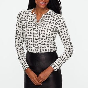 Talbots Key Printed Blouse
