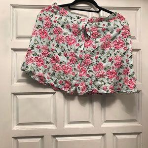 H&M button front short skirt