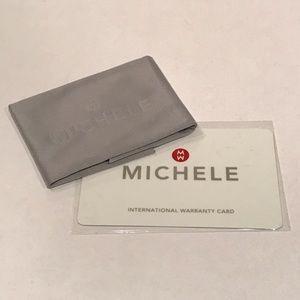 Michele Watch Polish Cloth and Warranty Card