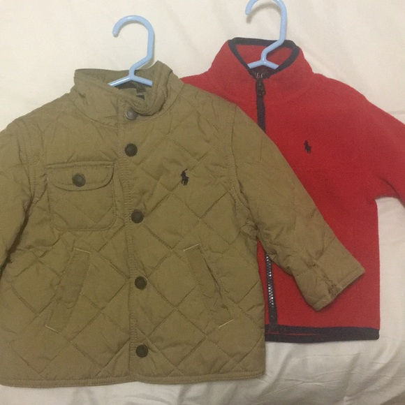 8b41cc3c6 Polo Ralph Lauren boys quilted jacket   fleece. M 5a10f01bf739bc2f8404c129