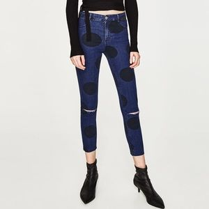 Zara polka dot jeggings
