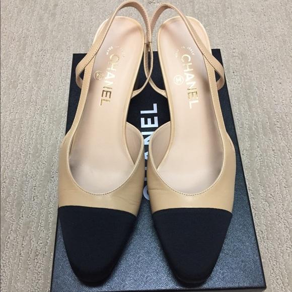 cdd3cd91fe CHANEL Shoes   Slingback Beige And Black Pumps   Poshmark