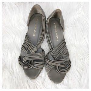 •Loeffler Randall• Gray Strappy Flats