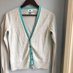 Old Navy Gray/turquoise cardigan