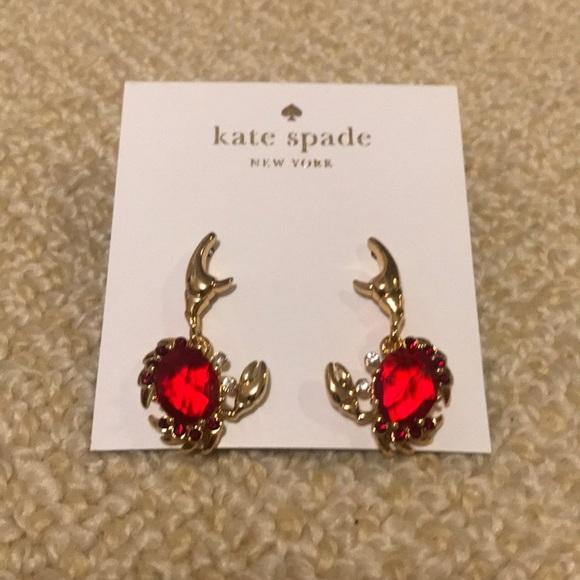 d58ac94c3fce5 Kate spade crab earrings NWT