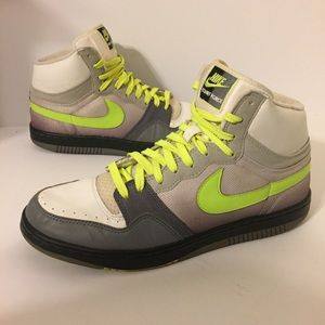 2008 Nike Court Force White Gray Volt Size 11