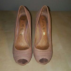 L.A.M.B Peep Toe Heels