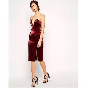 ASOS Red Carpet super plunge pencil dress