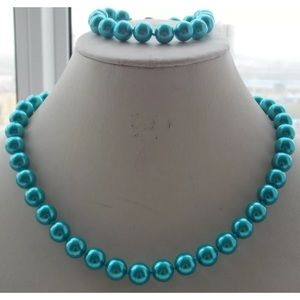 Jewelry - Teal pearl jewelry set