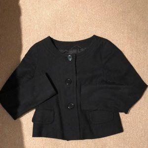 H&M Black Crop Blazer. Size 6.