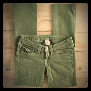 True Religion Army/Olive Green Jeans