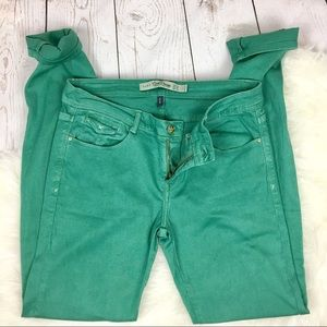Zara Core Denim Teal Slim Jeans