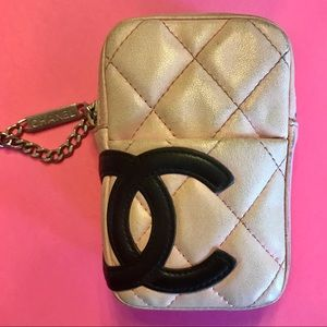 Authentic Chanel Cambon Pouch (retired line)