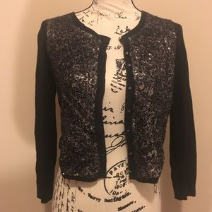 NWT Anthropologie sequin Cardigan Size Small