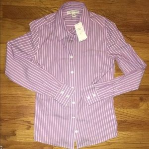 NWT Banana Republic stripe dress shirt size 0