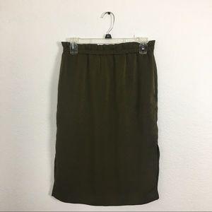 H&M Christmas green skirt size 4