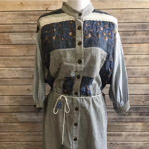 New Romantics free people tassel belt shirt dress