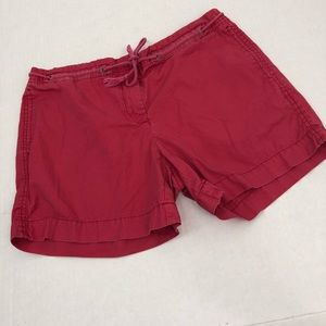 "J. Crew Coral Cargo Shorts Women's ""Low Fit"""
