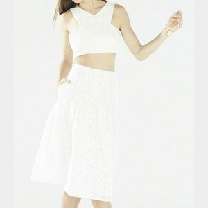 BCBG Two piece white lace dress
