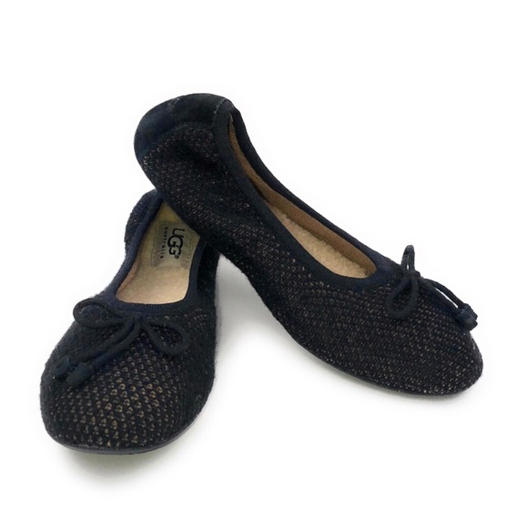 UGG Women's Black Brig Knit Slippers Size 7 NWOB