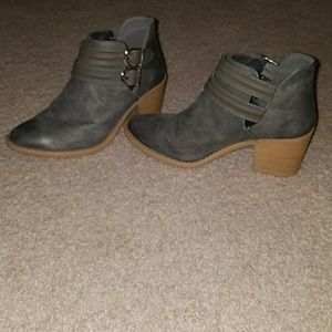 Qupid Buckle Ankle Bootie