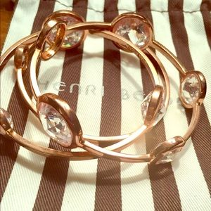 Henri Bendel Rosegold Bangle Set